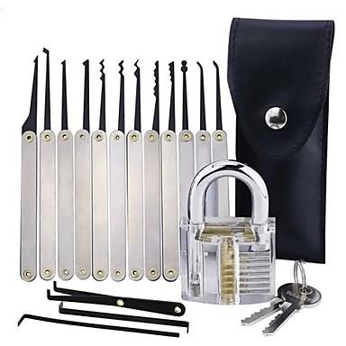 ieftine Electrice & Ustensile-lacat transparent de practică cu 12 buc bucla deblocare picături set instrumente de extragere cheie