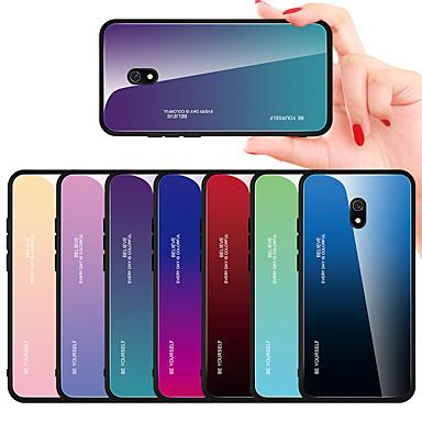 Недорогие Чехлы и кейсы для Xiaomi-чехол для xiaomi сцены карта редми 8 редми 8а красочный градиент закаленное стекло задняя пластина рама тпу 2-в-1 чехол для мобильного телефона jmgd
