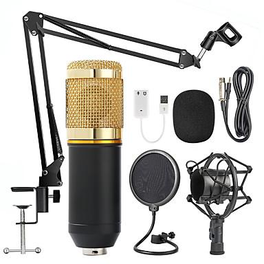 povoljno Dodaci za audio i video opremu-profesionalni bm 800 kondenzatorski mikrofon 3,5 mm s kabelom bm800 800 karaoke bm800 mikrofon za snimanje za ktv karaoke računalo