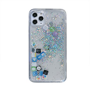 Недорогие Кейсы для iPhone X-чехол для iphone 11pro max прозрачный зыбучие пески мобильная оболочка приложение мобильного приложения xs max 6/7 / 8plus силиконовая защитная оболочка