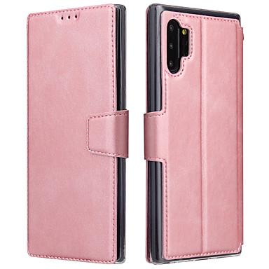 Недорогие Чехлы и кейсы для Galaxy S-Кейс для Назначение SSamsung Galaxy S9 / S9 Plus / S8 Plus Бумажник для карт / Защита от удара Чехол Однотонный Кожа PU