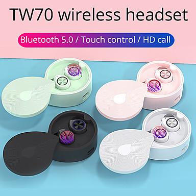 olcso Headsetek és fejhallgatók-tw70 vezeték nélküli fejhallgató bluetooth 5.0 fülhallgató tws hifi sztereo fülhallgató sport kihangosító játék fejhallgató iphone xiaomi