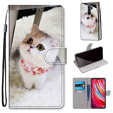 Недорогие Чехлы и кейсы для Xiaomi-чехол для xiaomi redmi note 8 pro / redmi note 8 / redmi note 7 pro кошелек / визитница / с подставкой красный шарф кошка тпу для redmi note 7 / mi cc9 / mi cc9e / redmi k20 / redmi k20 pro