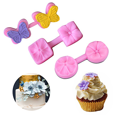 olcso Sütőeszközök és kütyük-virág pillangó fondant formák torta dekoráció sablon édességek cukor paszta 3d cseresznye torta penész szilikon formák torta eszközök