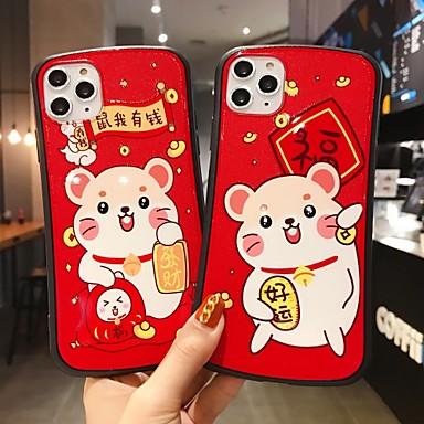 Недорогие Кейсы для iPhone 7 Plus-Кейс для Назначение Apple iPhone 11 / iPhone 11 Pro / iPhone 11 Pro Max Защита от удара Кейс на заднюю панель Мультипликация ТПУ / ПК