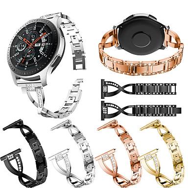 Недорогие Часы для Samsung-smartwatch band для samsung gear s3 / s3 classic / s3 frontier / gear 2 r380 / 2 neo r381 / galaxy 46 sport band высококачественный дизайн ювелирных изделий из нержавеющей стали ремешок на запястье22