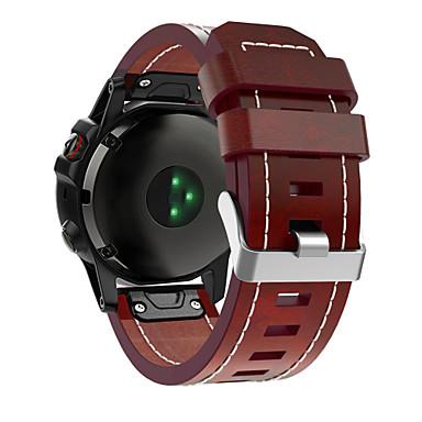 Недорогие Аксессуары для смарт-часов-Garmin умные часы кожаный ремешок для fenix 6x / 5x / 3 / 3hr / 5x plus / 6xpro / d2 / mk1 garmin sport бизнес-группа высококачественная кожаная петля из натуральной кожи ремешок для браслета quickfit