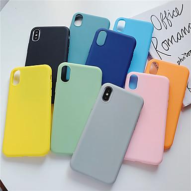 Недорогие Кейсы для iPhone 6 Plus-Кейс для Назначение Apple iPhone 11 / iPhone 11 Pro / iPhone 11 Pro Max Ультратонкий Кейс на заднюю панель Однотонный ТПУ