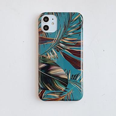 Недорогие Кейсы для iPhone 6 Plus-чехол для карты яблока сцены iphone 11 x xs xr xs макс. 8 разноцветный лист узор утолщенный материал тпу imd процесс все включено мобильный телефон чехол bc