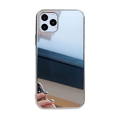 Недорогие Кейсы для iPhone 6-Кейс для Назначение Apple iPhone 11 / iPhone 11 Pro / iPhone 11 Pro Max Защита от удара / Зеркальная поверхность Кейс на заднюю панель Однотонный ПК
