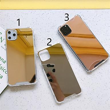 Недорогие Кейсы для iPhone 6-Кейс для Назначение Apple iPhone 11 / iPhone 11 Pro / iPhone 11 Pro Max Защита от удара / Зеркальная поверхность / Ультратонкий Кейс на заднюю панель Однотонный ТПУ