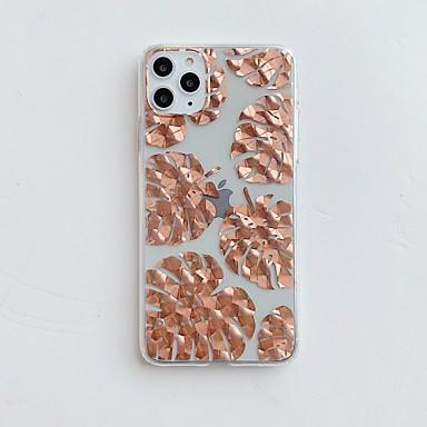 Недорогие Кейсы для iPhone 7-чехол для карты яблока сцены iphone 11 11 pro 11 pro max x xs xr xs max 8 покрытых металлом розовых цветочных узоров внутри и снаружи покрытого металлом материала тпу imd process все включено чехол