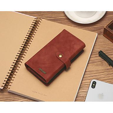 Недорогие Чехлы и кейсы для LG-Кейс для Назначение LG LG V40 / LG Stylo 4 / LG Stylo 5 Кошелек / Бумажник для карт / Защита от удара Чехол Однотонный Кожа PU