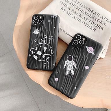 Недорогие Кейсы для iPhone X-чехол для карты сцены яблока iphone 11 11 pro 11 pro max x xs xr xs max 8 шаблон космонавта плывун и утолщение матовой текстуры ТПУ универсальный чехол для телефона