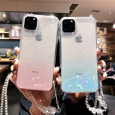 voordelige iPhone 6 hoesjes-hoesje Voor Apple iPhone 11 / iPhone 11 Pro / iPhone 11 Pro Max Transparant / Glitterglans Achterkant Kleurgradatie TPU