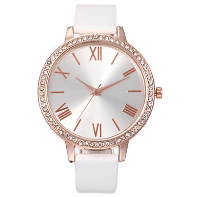 ราคาถูก นาฬิกาข้อมือ-สำหรับผู้หญิง นาฬิกาสร้อยข้อมือ นาฬิกาอิเล็กทรอนิกส์ (Quartz) สไตล์สมัยใหม่ สไตล์ Cubic Zirconia PU Leather สีขาว / ฟ้า / แดง นาฬิกาใส่ลำลอง เลียนแบบเพชร ระบบอนาล็อก ไม่เป็นทางการ สง่างาม -