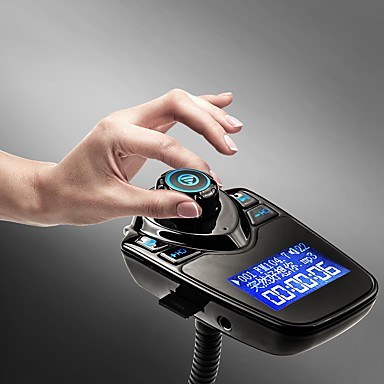 Недорогие Bluetooth гарнитуры для авто-T10 FM-передатчик Bluetooth-гарнитура автомобильный комплект mp3 музыкальный плеер радио адаптер с пультом дистанционного управления для iPhone / Samsung LG смартфон