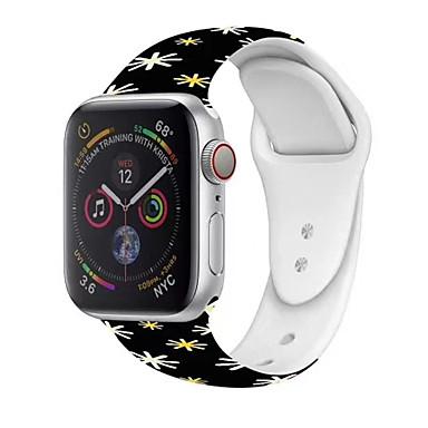 olcso Okos karóra Tartozékok-Nézd Band mert Apple Watch sorozat 5/4/3/2/1 Apple Hagyományos csat Szilikon Csuklópánt