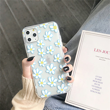 voordelige iPhone 6 Plus hoesjes-hoesje Voor Apple iPhone 11 / iPhone 11 Pro / iPhone 11 Pro Max Transparant / Patroon Achterkant Bloem TPU