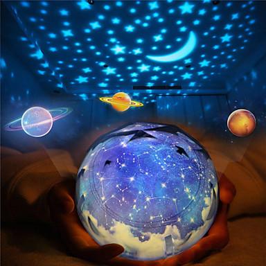 zvijezde noćna svjetla za djecu svemir kozmetika zvjezdano nebo svjetlo vodio projektor rotirajuća svjetiljka noćno svjetlo mjesec more svijet ukrasna