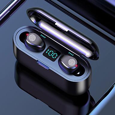 お買い得  ヘッドセット、ヘッドホン-LITBest F9 TWSトゥルーワイヤレスヘッドフォン ワイヤレス ノイズキャンセリング ステレオ デュアルドライバ 充電ボックス付き 防水IPX7 EARBUD