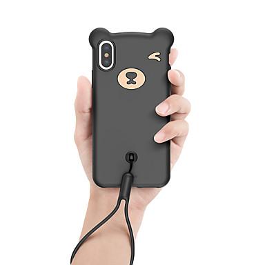 olcso iPhone XS Max tokok-Case Kompatibilitás Apple iPhone XS Max Ultra-vékeny / Minta Fekete tok Állat / Rajzfilm TPU