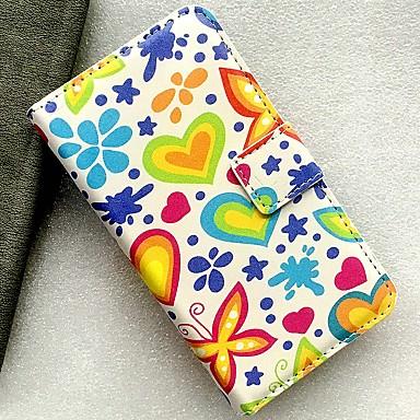 Недорогие Чехлы и кейсы для Nokia-Кейс для Назначение Nokia Бумажник для карт / со стендом / Флип Чехол Бабочка / Пейзаж / Цветы Кожа PU
