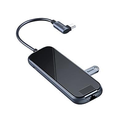 olcso iPod töltők-baseus multifunkcionális hub (c típusú - 3xusb3.0hd4krj45pd) mélyszürke