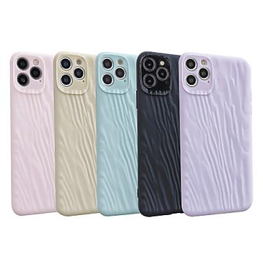 Недорогие Кейсы для iPhone-Кейс для Назначение Apple iPhone 11 / iPhone 11 Pro / iPhone 11 Pro Max Защита от удара Кейс на заднюю панель Полосы / волосы / Однотонный ТПУ