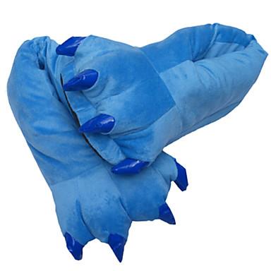 Adulți Papuci Kigurumi Monster Animal Pijama Întreagă Bumbac Verde Închis / Galben / Albastru Cosplay Pentru Bărbați și femei Sleepwear Pentru Animale Desen animat Festival / Sărbătoare Costume