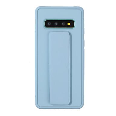 voordelige Samsung-accessoires-case voor samsung scene map samsung galaxy s10 s10e s10 plus a10 a20 de nieuwe candy kleuren dikker frosted pc tpu twee in een textuur polsband ondersteuning magnetische all-inclusive telefoon case