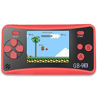 abordables Videoconsolas-Consola de juegos portátil gb-9x para niños. Sistema de arcade Consolas de juegos Reproductor de videojuegos con pantalla LCD de 2,5 colores y 168 juegos retro clásicos. Gran regalo de cumpleaños