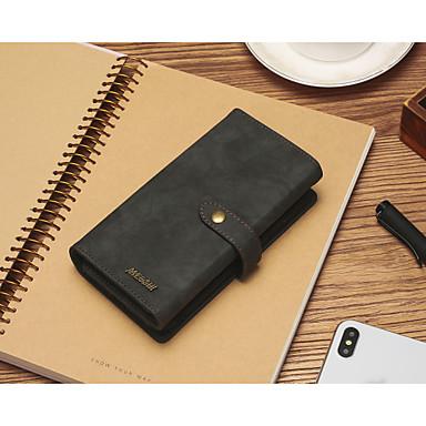 billige Telefonetuier-Etui Til Apple iPhone 11 / iPhone 11 Pro / iPhone 11 Pro Max Lommebok / Kortholder / Støtsikker Heldekkende etui Ensfarget PU Leather