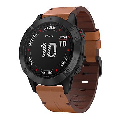 olcso Nézd Zenekarok Garmin-smartwatch szalag a Garmin fenix 6 / 6pro / 5 / 5plus / forerunner 945/935 / s60 csúcsminőségű bőrhurokhoz valódi bőr zenekar gyorsfényű csuklópánt 22mm