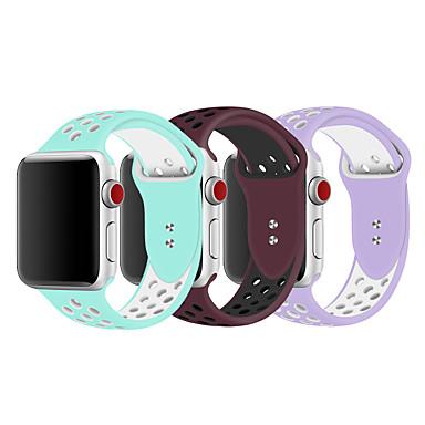 voordelige Apple Watch-bandjes-3-pack horlogeband voor Apple Watch-serie 5/4/3/2/1 Apple-klassieke siliconen polsband met gesp