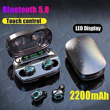 levne Headsety a sluchátka-nejslabší s11 tws skutečné bezdrátové sluchátka do uší bluetooth 5.0 sluchátka 2200mah mobilní síla pro smartphony vedená baterie displej dotykové ovládání ipx5 vodotěsné sportovní fitness sluchátka