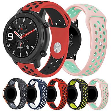 Недорогие Аксессуары для смарт-часов-smartwatch band для huami amazfit gtr 42 мм / часы bip younth / amazfit bip / bip lite amazfit sport band мода мягкий удобный силиконовый ремешок на запястье 20 мм