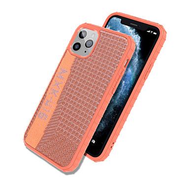 Недорогие Кейсы для iPhone-Кейс для Назначение Apple iPhone 11 / iPhone 11 Pro / iPhone 11 Pro Max Защита от удара / IMD / Ультратонкий Чехол Однотонный текстильный / ТПУ / ПК