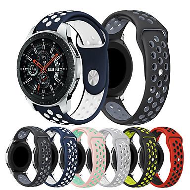 Недорогие Часы для Samsung-smartwatch band для samsung galaxy 46 / gear s3 / s3 classic / s3 frontier / gear 2 r380 / 2 neo r381 / sport band мода мягкий удобный силиконовый ремешок на запястье 22 мм