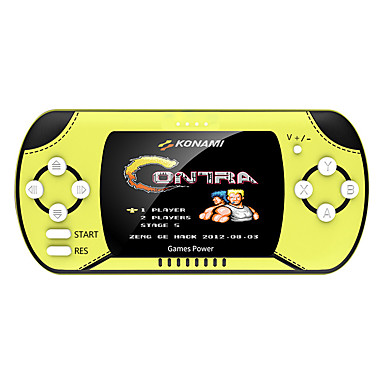cheap Video Game Accessories-A6 Game Console Built in 1 pcs Games 3 inch Screen Handheld Game Console built-in 300 nostalgic games  New Design for FC Arcade