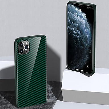 Недорогие Кейсы для iPhone 6-Кейс для Назначение Apple iPhone 11 / iPhone 11 Pro / iPhone 11 Pro Max Защита от удара Кейс на заднюю панель Однотонный Углеродное волокно