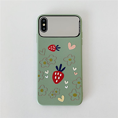Недорогие Кейсы для iPhone 7-чехол для яблока iphone 11 / iphone 11 pro / iphone 11 pro max зеркало / узор задняя крышка пища тпу для iphone x xs xr xs max 8 8plus 7 7plus 6 6plus 6s 6s plus