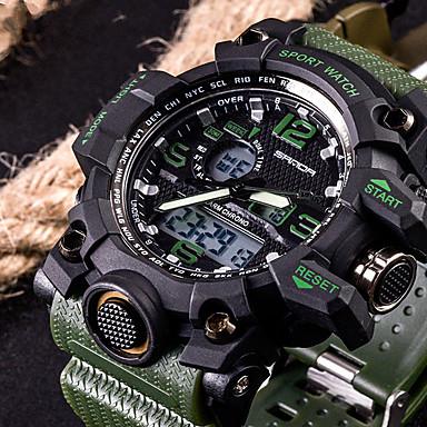 ieftine Ceasuri Bărbați-SANDA Bărbați Ceas Sport Uita-te inteligent Ceas de Mână Digital Modă Rezistent la Apă Analog - Digital Negru Rosu Portocaliu / Oțel inoxidabil / Silicon / Japoneză / Doi ani / LED