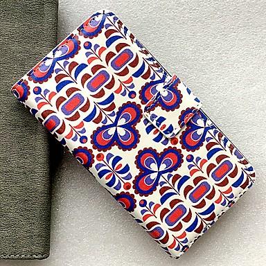 Недорогие Чехлы и кейсы для Nokia-Кейс для Назначение Nokia Бумажник для карт / со стендом / Флип Чехол Геометрический рисунок / Цветы Кожа PU