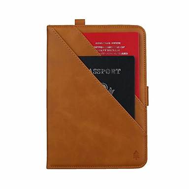 olcso iPad tokok-Case Kompatibilitás Apple iPad Air / iPad Mini 3/2/1 / iPad Mini 4 Kártyatartó / Állvánnyal / Flip Héjtok Egyszínű PU bőr