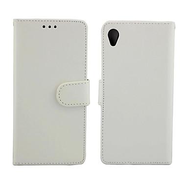 Недорогие Чехлы и кейсы для Sony-Кейс для Назначение Sony Sony Xperia Z5 / Sony Xperia M5 / Sony Xperia E4 Бумажник для карт / Защита от удара Чехол Однотонный Кожа PU