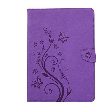 olcso iPad tokok-Case Kompatibilitás Apple iPad 4/3/2 / iPad Mini 4 Kártyatartó Fekete tok Virág PC