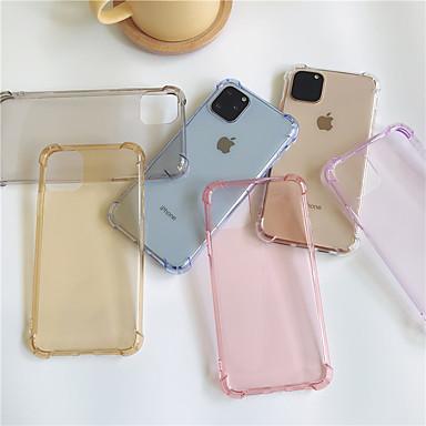 Недорогие Кейсы для iPhone 6-чехол для карты яблока сцены iphone 11 11 pro 11 pro max x xs xr xs max 8 классический сплошной цвет полупрозрачный четырехугольный подушка безопасности против падения мягкий чехол для телефона
