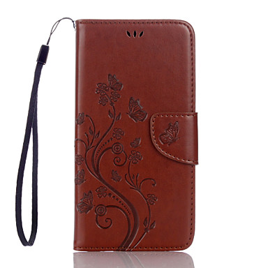 cheap Other Cases-Case For Google Google Pixel / Google Pixel XL Card Holder Full Body Cases Butterfly / Flower PU Leather