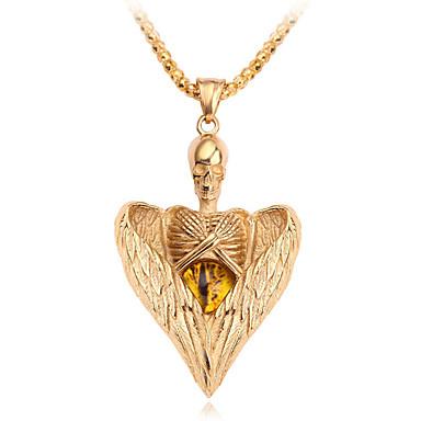 povoljno Modne ogrlice-Muškarci Žene Ogrlice s privjeskom Klasičan Mini Jednostavan Krom Zlato Srebro 60 cm Ogrlice Jewelry 1pc Za Dnevno